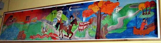 How mural looked from 2008 to 2013: in display at Dearborn Academy