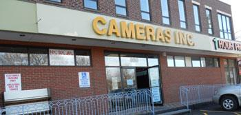 Familiar exterior of Cameras Inc along Mass. Ave.