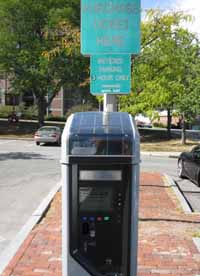 New parking meter at Rusell Common lot