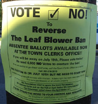 Vote no flier, landscapers, June 2012