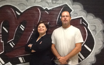 Brandy Whitney, Gary Blanchette, Ottoson tech engineering teachers