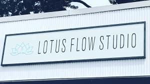 Lotus Flow's new sign, Aug. 18, 2018